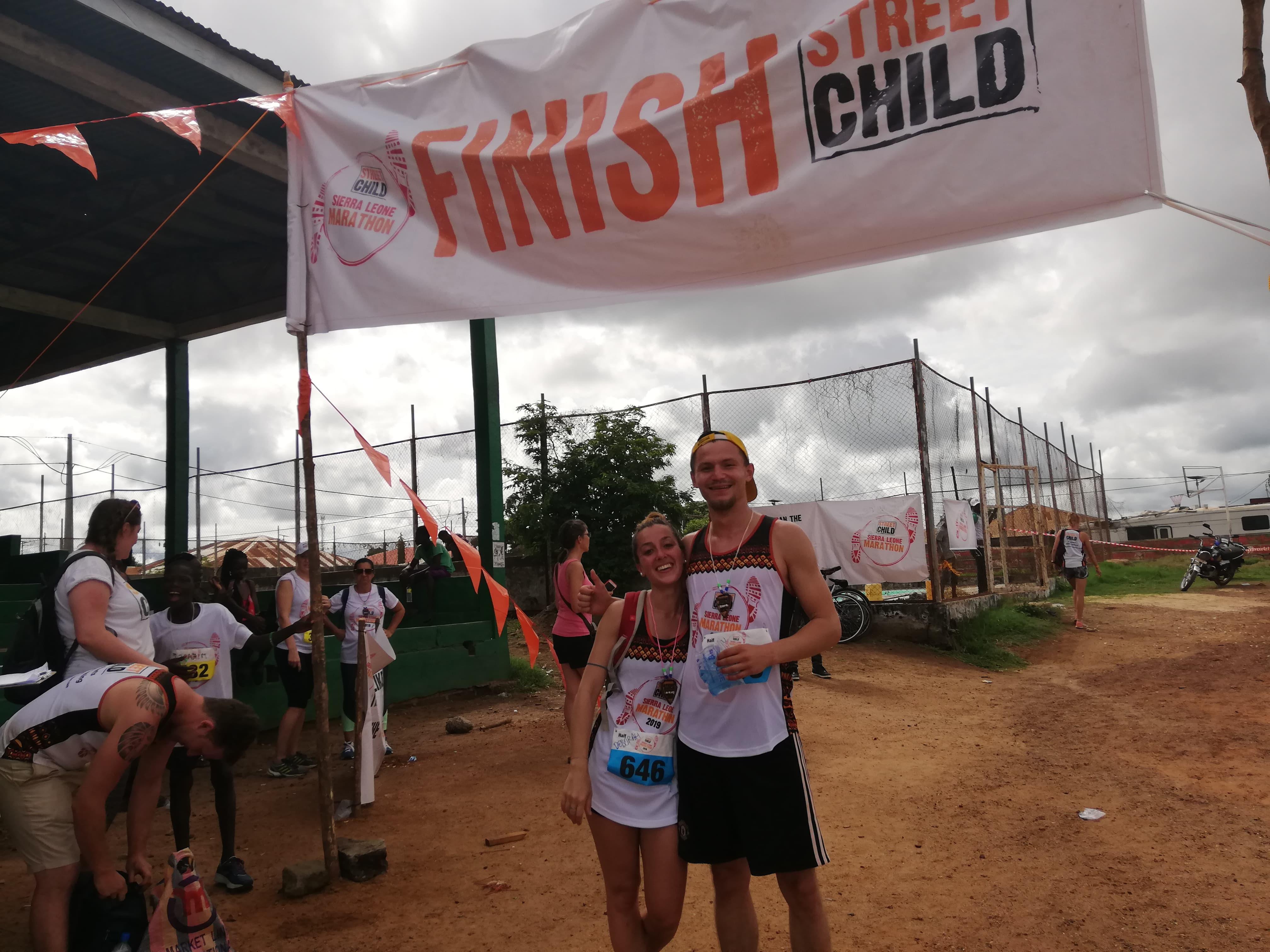 Our intern battles the heat in Sierra Leone Marathon to help fund schools