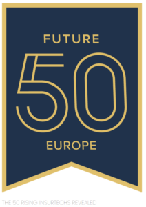 Future 50 Europe written in yellow on a blue background