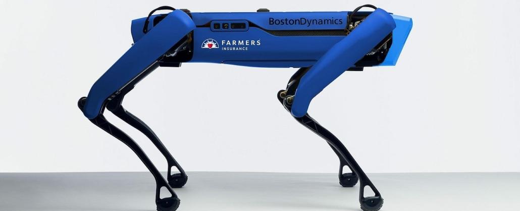 a blue dog shaped robot